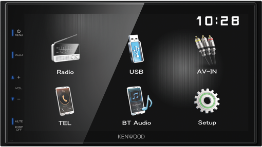 KENWOOD DMX110BT - Digital Media Receiver  - Bluetooth - Schwarz