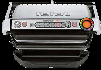 Tefal GC712D Optigrill - Grill a contatto - zona grill: 600 cm² - Nero-Argento