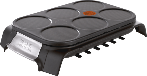 Tefal PY5588 Crêpe Party Inox & Design - 1000 Watt - Schwarz