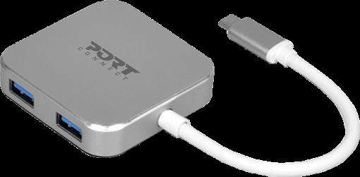 PORT DESIGNS 900123 - TYPE C HUB USB 3.0 - Argent