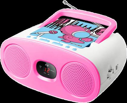 muse M-20 KDG - Radio lecteur CD - FM/MW Analog radio - Bleu/Rose