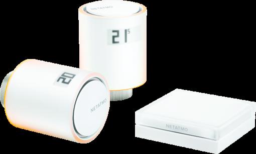 netatmo NVP01-EN - Smarte Heizkörperthermostate Additional Pack - WLAN 802.11 b/g/n - Weiss