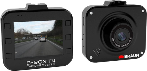 Braun Photo B-Box T4 Car DVR System Caméra embarquée (Noir)