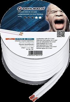 OEHLBACH SP-15 1000 - Câble pour haut-parleur - 2 x 1.5 mm2 - 10 m - Blanc