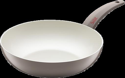 silit selara wok pfanne 28 cm grau g nstig kaufen wok pfannen f r induktionsherde. Black Bedroom Furniture Sets. Home Design Ideas