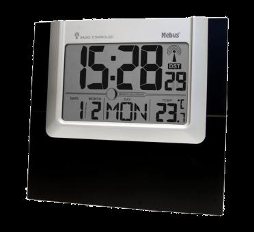 Horloge murale digitale radio pilote precision prec for Calendrier digital mural