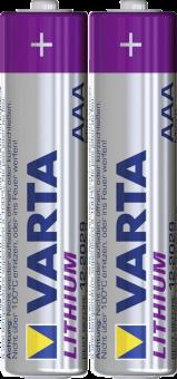 VARTA - LITHIUM AAA - 2er Blister - Silber/Violett