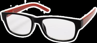 hama Filtral occhiali, plastica, nero/rosso, +1.5 dpt