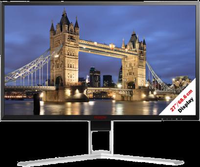 AOC AGON AG271QX - Gaming-Monitor - Display 27 / 68.6 cm - nero/rosso