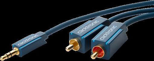 clicktronic MP3-Adapterkabel - 2 m - Blau