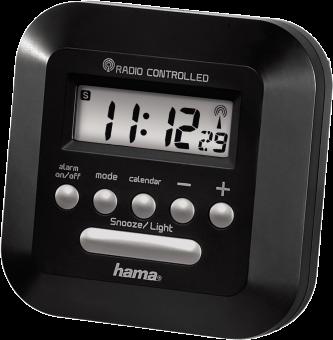 hama RC 40 - Réveil radio-piloté - Répétition de l'alarme - Noir