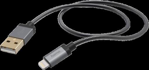 hama Câble de charge/synchronisation - Lightning - Métal