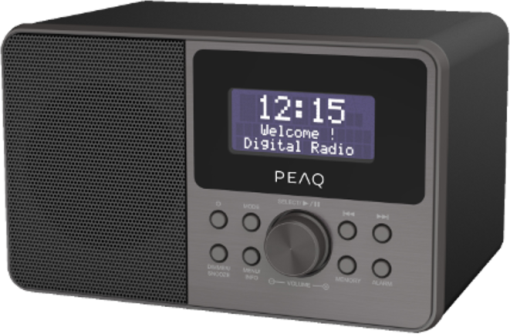 peaq pdr160bt b dab radio bluetooth schwarz g nstig. Black Bedroom Furniture Sets. Home Design Ideas