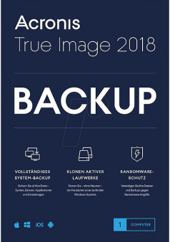Acronis True Image 2018 1 PC, Multilingue