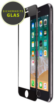 Artwizz Curved Glass - Glass Screen Protector - Pour iPhone 6/7/8 Plus - Transparent/Noir