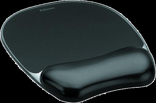 fellowes gel crystal tapis de souris repose poignet noir repose poignet acheter bas. Black Bedroom Furniture Sets. Home Design Ideas