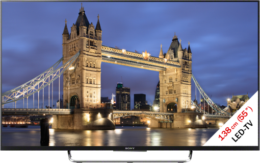 Sony KDL-55W805CB, LCD/LED TV, 55, 800 Hz, noir
