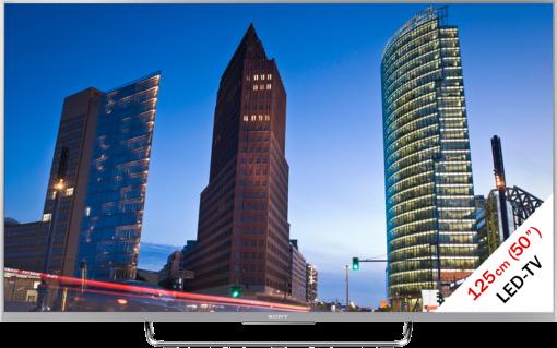 Sony KDL-50W756CS, LCD/LED TV, 50, 800 Hz, silber