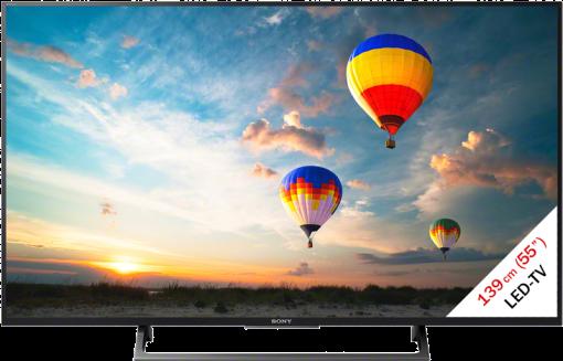 Sony KD-55XE7077S - LCD/LED-TV - 55 (139 cm) - Noir/Argent