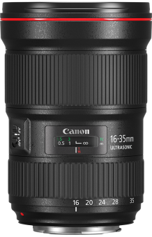 Canon EF 16-35mm 2.8L III USM - Objectif grand angle - Diamètre du filtre (mm): 82 - noir