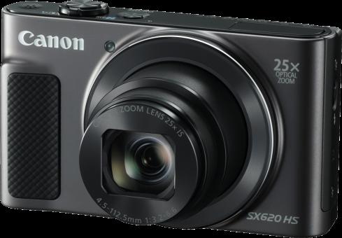 Canon PowerShot Sx620 HS - Camera compact - 20.2 MP - noir Appareil photo numérique, dragonne, batterie, chargeur de batterie, cordon d'alimentation, manuels d'utilisation Noir