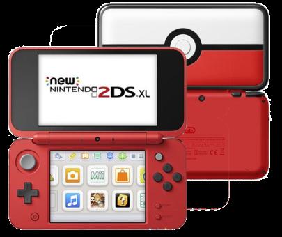 Nintendo New 2DS XL - Édition Poké Ball - Blanc/Rouge