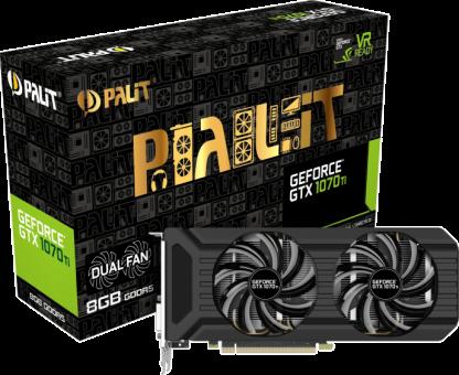 Palit GeForce GTX 1070 Ti Dual - Carte graphique - 8 Go GDDR5 - Noir
