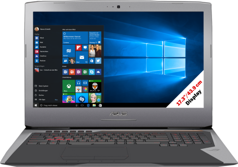 Asus ROG G752VM-GC004T - Gaming-Notebook - Full HD-Display 17.3 / 43.9 cm - Grau