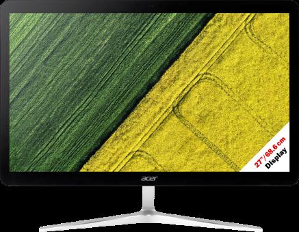 acer Aspire U27-880 - All-in-One - Intel® Core™ i7-7500U Processore (fino a 3.5 GHz, 4 MB Intel® Cache) - Nero/Argento
