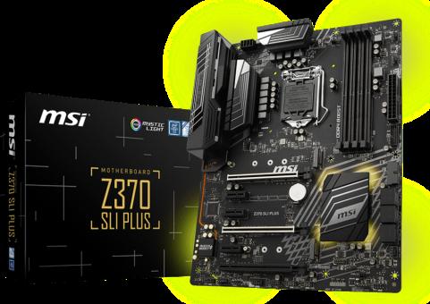 MSI Z370 SLI PLUS - Carte mère gaming - Intel® Z370 - Noir