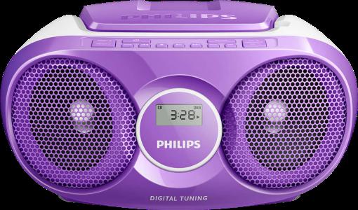 philips az215n 12 cd player digitaler tuner violett. Black Bedroom Furniture Sets. Home Design Ideas