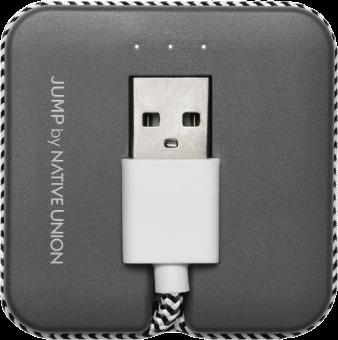 NATIVE UNION Jump Cable - Cavo Lightning - Grigio