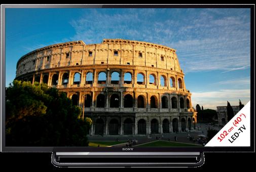 SONY KDL-40R485B, LCD/LED TV, 40, 100 Hz, Schwarz