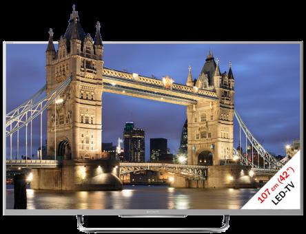 SONY KDL-42W815B, LCD/LED TV, 42, 300 Hz, Silber