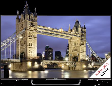 SONY KDL-55W805B, LCD/LED TV, 55, 400 Hz, Schwarz