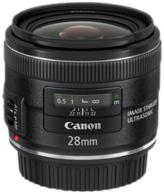 Canon EF 28mm f/2.8 IS USM Objectif grand angle Noir