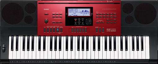 CASIO CTK-6250 - Musikinstrument - 61 Piano-Style Tasten - Schwarz/Rot