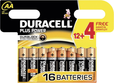 duracell plus power aa 12 4 gratis g nstig kaufen einweg batterien aa media markt online shop. Black Bedroom Furniture Sets. Home Design Ideas