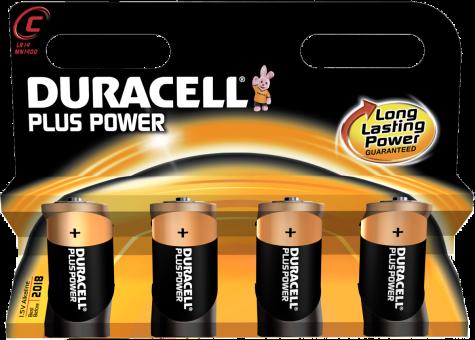 duracell plus power mn1400 c 4er g nstig kaufen einweg batterien c media markt online shop. Black Bedroom Furniture Sets. Home Design Ideas
