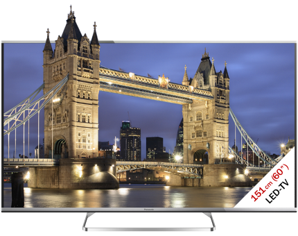 Panasonic TX-60ASW654, LCD/LED TV, 60, 1200 Hz, Schwarz/Silber