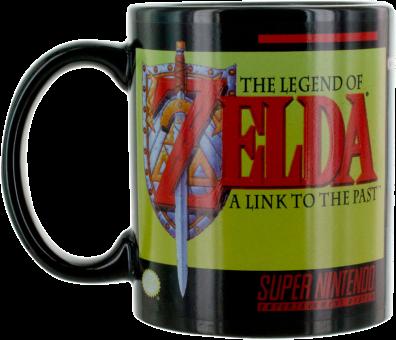 Paladone The Legend of Zelda - A Link to the Past Thermoeffekt-Becher - 300 ml - Schwarz