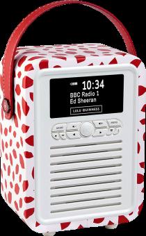View Quest Retro Mini - Radio DAB - Bluetooth - Red Lip
