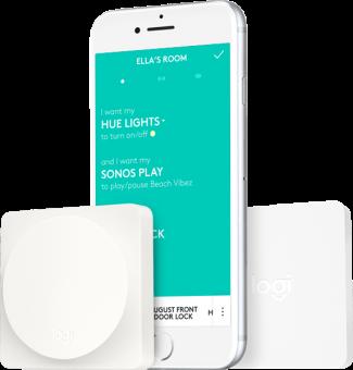 logitech pop smart button kit smart home steuerung wi fi bluetooth weiss g nstig kaufen. Black Bedroom Furniture Sets. Home Design Ideas