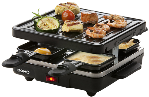 domo do9147g raclette grill pour 4 personnes noir combinaison de raclette gril acheter. Black Bedroom Furniture Sets. Home Design Ideas