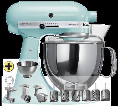 KitchenAid Artisan KSM150 Premium-Set, eisblau