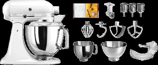 kitchenaid robot de cuisine platinum set 300 watts blanc ustensiles de cuisine acheter. Black Bedroom Furniture Sets. Home Design Ideas