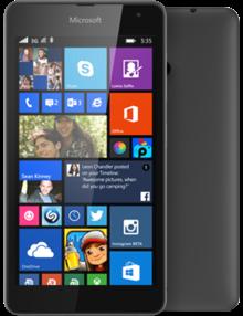 Microsoft Lumia 535 Dual SIM, schwarz