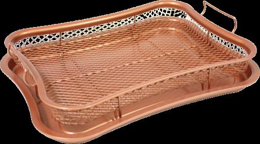 industex Air o Crisp - Offenbratplatte - 360° - Bronze