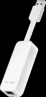 Tp-Link Ue300 - Adaptateur USB 3 Ethernet Gigabit - conception pliable - blanc Adaptateur Gigabit Ethernet Blanc