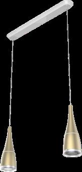 sengled Flex Set 2er Pack - Illuminazione a LED e wireless JBL altoparlanti + portalampada Horn - Champagne